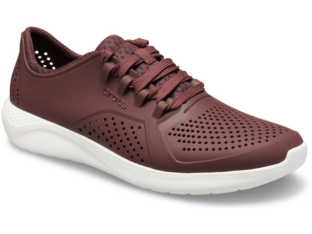 Crocs LiteRide Pacer Chaussures Homme, burgundy/white